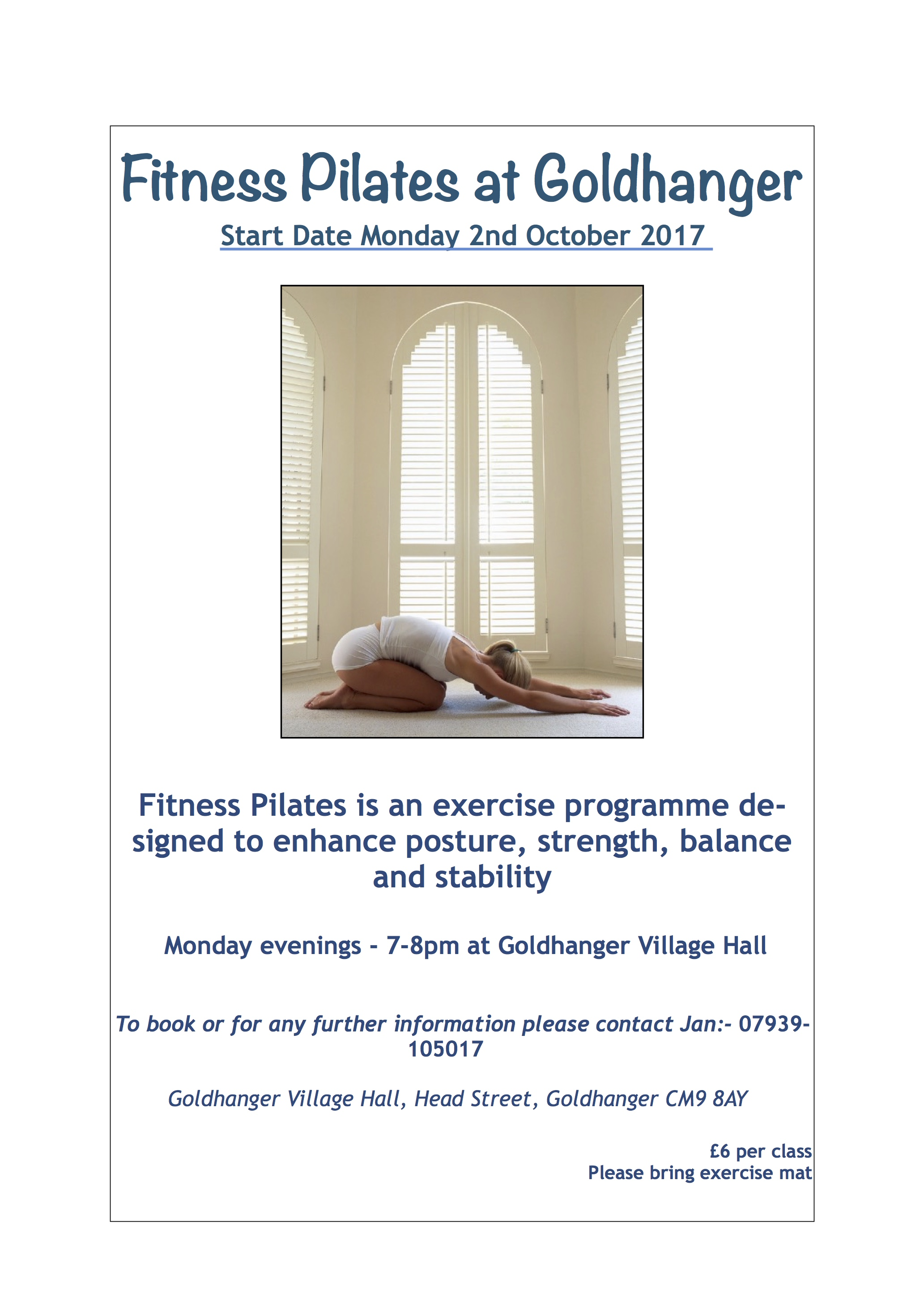 Pilates @ Goldhanger Village Hall