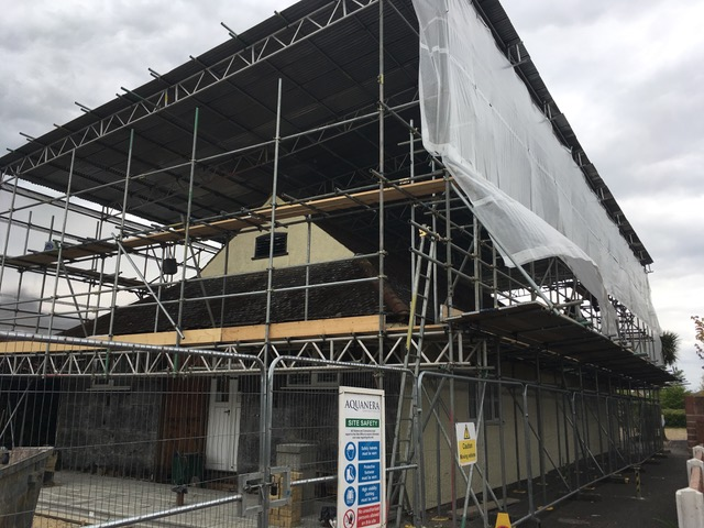May 2nd: The scaffolding is going up